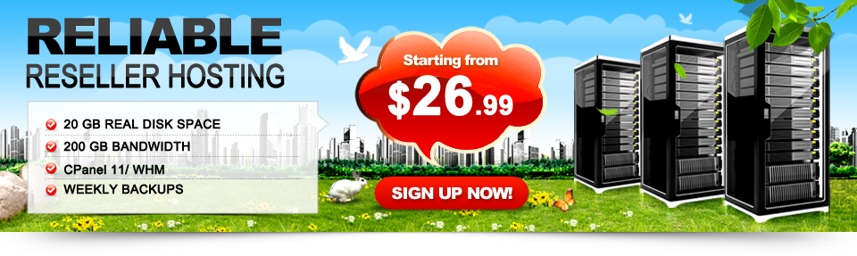 Perfect Reseller Palns to start your own web hosting company with minimum Investments required